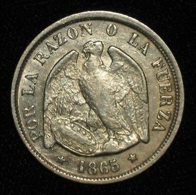 1865, 20 Centavos from Chile.  No Reserve!