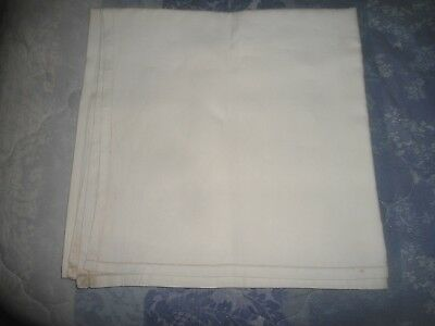 "A  Plain Pale Cream  Linen  Tablecloth 52"" Square Ideal To Embroider On"