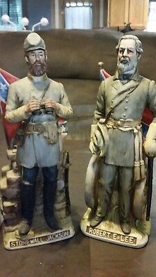 VINTAGE McCORMICK THE CONFEDERATES  ROBERT E. LEE, STONEWALL JACKSON DECANTERS