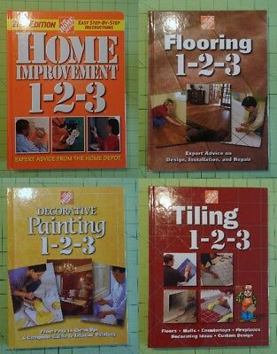 Lot of 4 Home Depot Decorative Painting Flooring Tiling Home Improvements-2-3