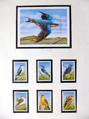 BURKINA FASO Birds on 4 Pages U/M NB3554