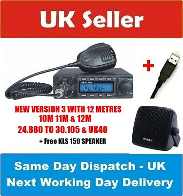 Programmed Crt Ss 9900N V3 Ver 3 10M/11M/12M Multimode Am/fm/ssb With Usb Cable