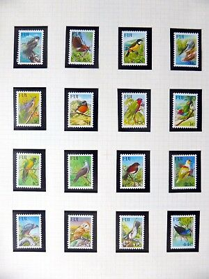FIJI Birds on 9 Pages U/M NB3561
