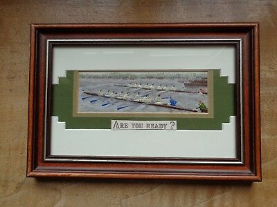 Cash's Silk-Woven Picture - Oxford And Cambridge Boat Race - Limited Edition