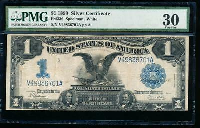 AC Fr 236 1899 $1 Silver Certificate PMG 30 comment