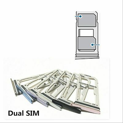 Dual Sim Card Tray Holder Slot Part For Samsung Galaxy S8/S8 Plus