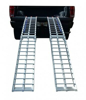 Aluminum Folding ATV Motorcycle Ramps 7Ft Pair Pit Posse 1500lb Rated