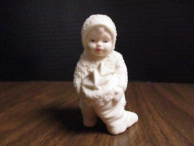 "Department 56 Snowbabies ""Snowbaby Holding Stocking"" w/orig. box"