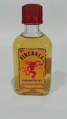 Fireball Cinnamon Whiskey! 50 ml Mini! New & Unopened!