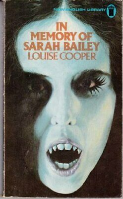 In Memory of Sarah Bailey by Cooper, Louise Paperback Book The Cheap Fast Free