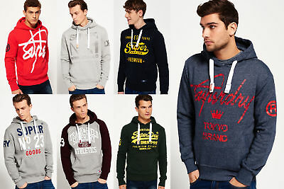 New Mens Superdry Hoodies Selection - Various Styles & Colours 1209 2
