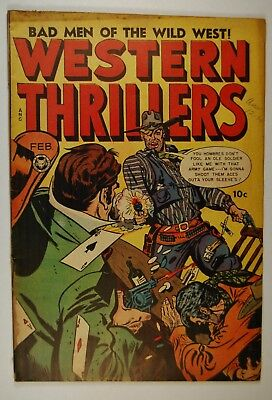 """Western Thrillers #4 (Feb 1949, Fox) """"The Bad Men of the Wild West!"""""""