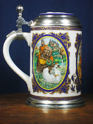 """Limited Edition Villeroy & Boch Richard Wagner Beer Stein 6 1/2 """"H. Great shape!"""
