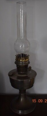 Old Super Aladdin Oil Lamp With Glass Chimney