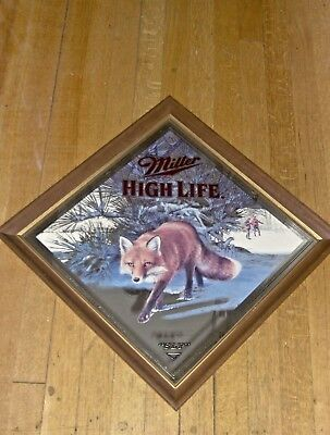 miller high life wildlife diamond shape mirrors- your choice of 1- free shipping