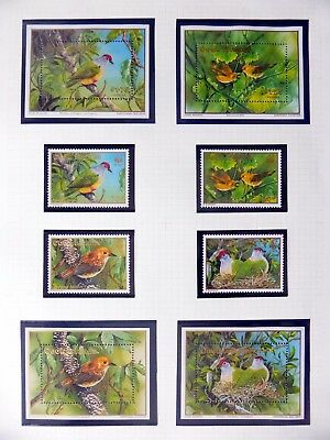 COOK ISLANDS Birds on 4 Pages U/M NB3586