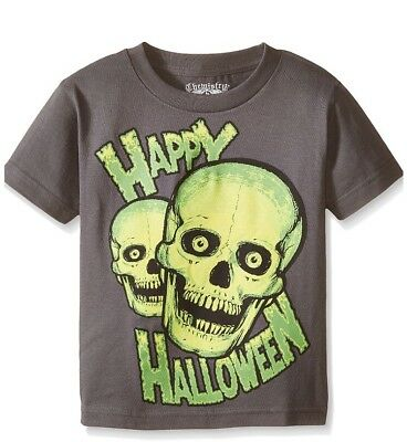 Halloween  Skull Tee C Life Group Little Boys Shirt Size 5/6 NWT