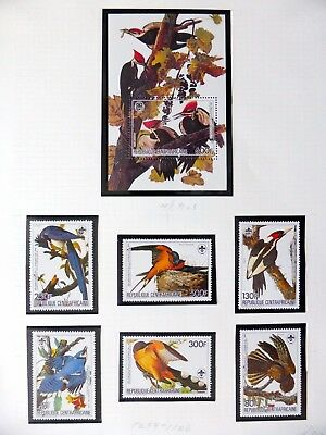 CENTRAL AFRICAN REPUBLIC Birds on 3 Pages U/M NB3594