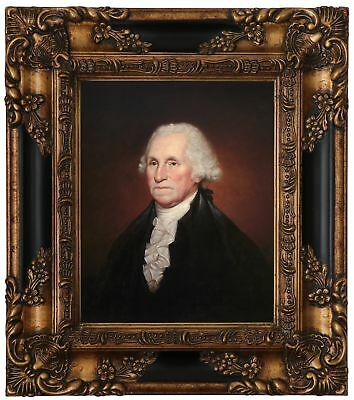 Peale Portrait of George Washington 1795 Wood Framed Canvas Print Repro 8x10