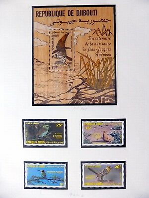 DJIBOUTI Birds on 2 Pages U/M NB3600