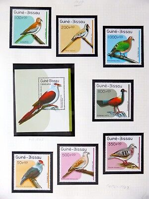 GUINEA-BISSAU Birds on 3 Pages U/M NB3601
