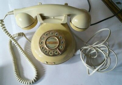 Vintage Retro Telephone Astral The Knightsbridge Cream wired for BT