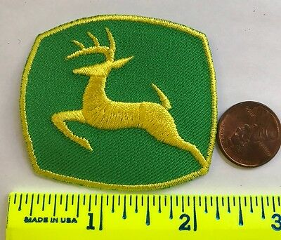 "JOHN DEERE PATCH*2"" X 2""Embroidered Iron-On Patch*NEW"