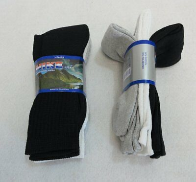 Bulk Lot of 300 Pairs Mens White Black Gray Assorted Crew Socks sz 10-13