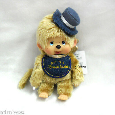 Sekiguchi Monchhichi S Plush 40th Anniversary 20cm MCC Blonde Hair Denim Boy