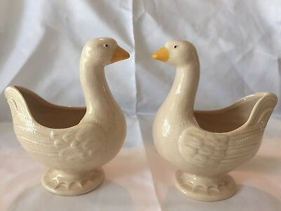 Franciscan Ware Pair Goose Geese W Sticker