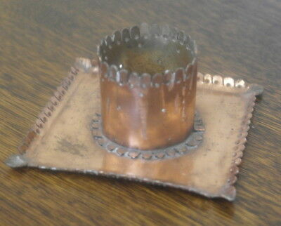 antique ARTS AND CRAFTS COPPER CANDLE STICK