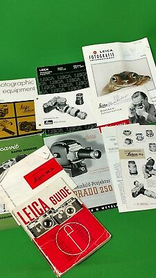 Leica instruction books and pamphlets