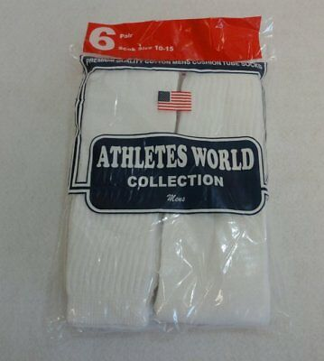 Bulk Lot of 240 Pairs White Mens Sports Tube Socks SIZE 10-15 (shoe size 12.5+)