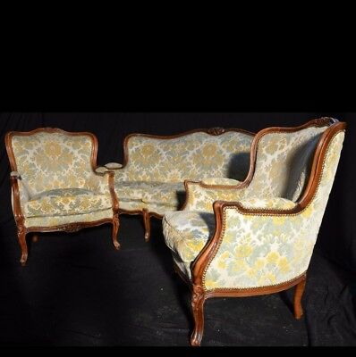 Chippendale Set- Garnitur - Sofa -Couch  - 2 Sessel