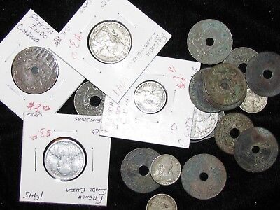 FRENCH INDO-CHINA ~ 21 Coins ~ ASIA ~ SUPER World Collection Bulk Lot!! #16