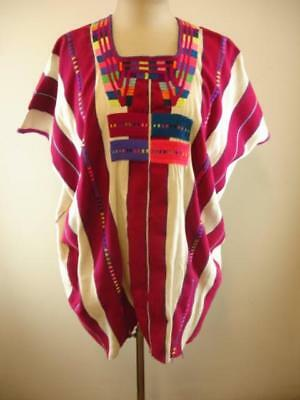 PLUS size huipil guatemala guatemalan woven cotton embroidered traditional top