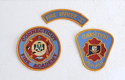 New Connecticut Fire Academy Patch, Certified Firefighter Patch,fire Officer 1