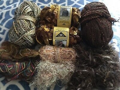 Mixed Lot of Brown Yarns-2 New Phentex Fashion Eight-2 No Labels-6 Leftovers