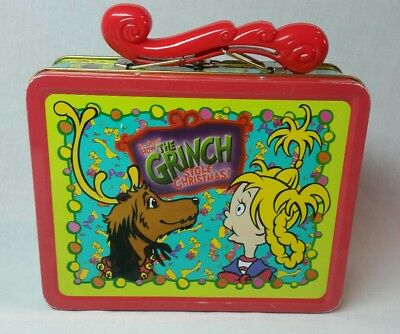 Dr. Seuss How The Grinch Stole Christmas Metal Lunchbox- 2000- Universal Studios