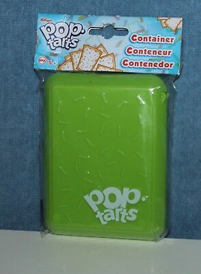 2014 Kelloggs Pop Tarts Holder Case Hinged Top Green Lunch Box Container NEW