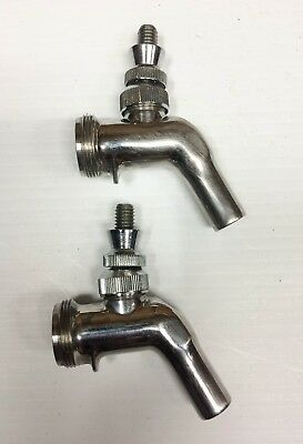 Lot of 2 Used Perlick Faucets - Draft Beer Faucets