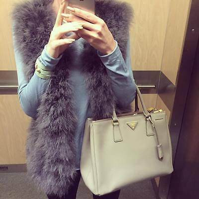 Women's Real Ostrich Feather Fur Coat winter Jacket Genuine Outwear Best Outfit