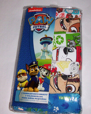 Paw Patrol Marshall Chase Rocky Rubble 7 Cotton Briefs Toddler Boys Size 4T NIP