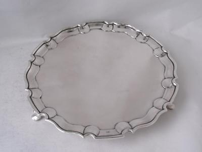 Antique Solid Sterling Silver Salver/ Tray 1891/ Dia 16.4 cm/ 199 g
