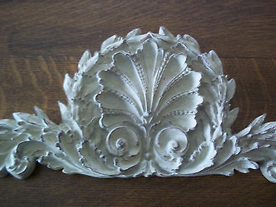 Shabby French Ornate Pediment Architectural Header Hang Ovr Mirror Picture Door