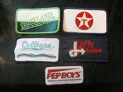 Vintage 1980's-90's Embroidered Printed Uniform Logo Patch Lot (5) w/Texaco NICE
