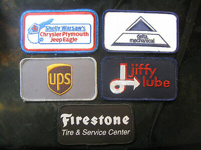 Vintage 1980's-90's Embroidered Printed Uniform Logo Patch Lot (5) w/Jiffy Lube