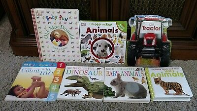 Lot of 7 DK Baby Toddler Board Books Touch and Feel Shape book