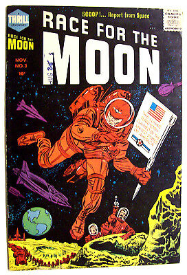 Race For The Moon #3 Kirby & Williamson Art Through Out Vf+ 1958!