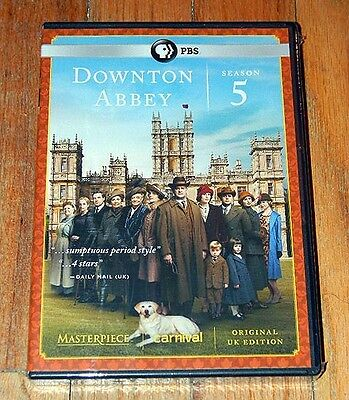 New & Sealed DOWNTON ABBEY Complete PBS SERIES 5 UK Edition 4 DVDS